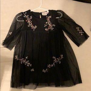 Black Zara Christmas dress 18-24 months